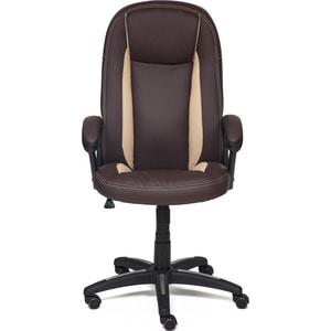 Кресло TetChair BRINDISI кож/зам, коричневый/бежевый/коричневый перфорированный, 36-36/36-34/06 tactifans коричневый