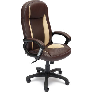 Кресло TetChair BRINDISI ST кож/зам, коричневый/бежевый/коричневый перфорированный, 36-36/36-34/06