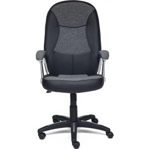 Кресло TetChair COMPACT кож/зам/ткань, черный/серый, 36-6/207