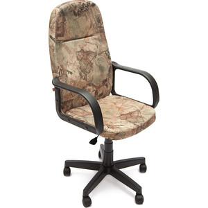 Кресло TetChair LEADER ткань, карта на бежевом кресло компьютерное tetchair степ step доступные цвета обивки ткань карта на бежевом
