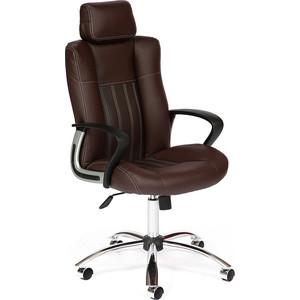 Кресло TetChair OXFORD хром кож/зам, коричневый/коричневый перфорированный, 36-36/36-36/06 tactifans коричневый