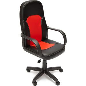Кресло TetChair PARMA кож/зам, черный/красный, 36-6/36-161 junlinu белый красный 36