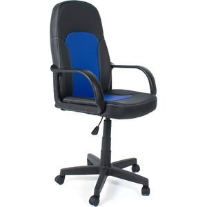 Кресло TetChair PARMA кож/зам, черный/синий, 36-6/36-39