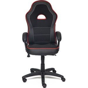 Кресло TetChair SHUMMY кож/зам+ткань, черный+красный, 36-6/36-161/11