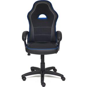 Кресло TetChair SHUMMY кож/зам+ткань, черный+синий, 36-6/36-39/11