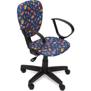 Кресло TetChair СН413 ткань, ''машинки на синем''
