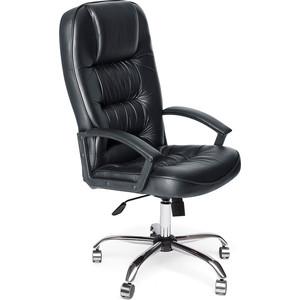 Кресло TetChair СН9944 хром, кож/зам, черный, 36-6