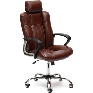 Кресло TetChair OXFORD хром кож/зам, коричневый/коричневый перфорированный, 2 TONE/2 TONE /06 2pcs lot sim900a gsm gprs module base station positioning mms version dual tone multi frequency