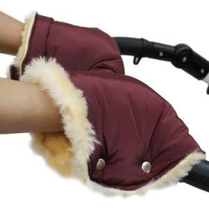 Варежки Эко Бейби для рук меховые бордовый