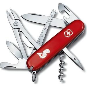 Нож перочинный Victorinox Angler 1.3653.72 (91мм, 18 функций, красный с логотипом рыба) мультитул victorinox swisstool цвет стальной 27 функций 11 5 см