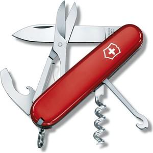Нож перочинный Victorinox Compact 1.3405 (91мм 15 функций, красный) нож перочинный victorinox compact 1 3405 91мм 15 функций красный
