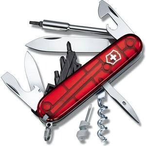 все цены на  Нож перочинный Victorinox CyberTool 29 1.7605.T (91мм, 29 функций, полупрозрачный, красный)  онлайн