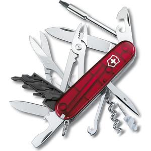 все цены на  Нож перочинный Victorinox CyberTool 34 1.7725.T (91мм, 34 функции полупрозрачный красный)  онлайн