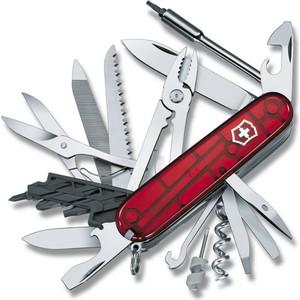 все цены на  Нож перочинный Victorinox CyberTool 41 1.7775.T (91мм, 41 функция полупрозрачный, красный)  онлайн