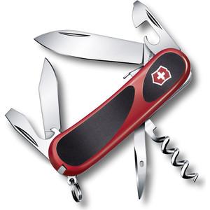 Нож перочинный Victorinox EvoGrip S101 2.3603.SC (85мм 12 функций, красно-чёрный) нож victorinox vx24913 c victorinox evogrip 18 vx24913 c