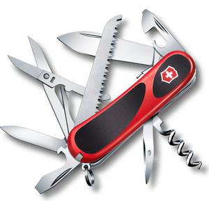 Нож перочинный Victorinox EvoGrip S17 2.3913.SC (85мм, 15 функций, красно-чёрный) нож victorinox vx24913 c victorinox evogrip 18 vx24913 c