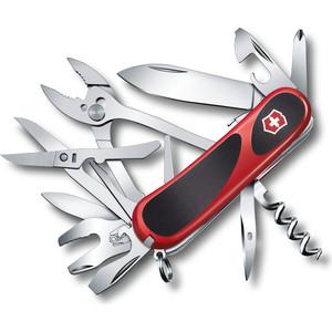 Нож перочинный Victorinox EvoGrip S557 2.5223.SC (85мм, 21 функция красно-чёрный) нож victorinox vx24913 c victorinox evogrip 18 vx24913 c