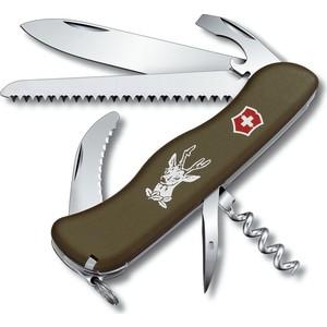 Нож перочинный Victorinox Hunter 0.8873.4 (с фиксатором лезвия 13 функций, зеленый)