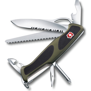 Нож перочинный Victorinox RangerGrip 178 0.9663.MWC4 130мм 12 функций, чёрно-зеленый diysecur waterproof 125khz rfid card reader access control 280kg waterproof electric magnetic lock access control security kit