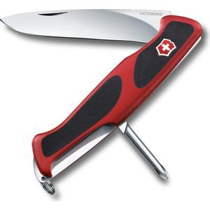 Нож перочинный Victorinox RangerGrip 53 0.9623.C (130мм 5 функций, красно-чёрный)