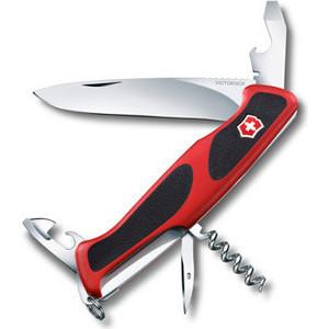 Нож перочинный Victorinox RangerGrip 68 0.9553.C (130мм, 11 функций, красно-чёрный) нож перочинный victorinox rangergrip 58 hunter 0 9683 mc 130мм 13 функций красно чёрный
