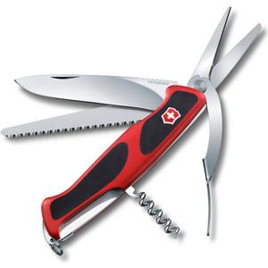 Нож перочинный Victorinox RangerGrip 71 Gardener 0.9713.C (130мм, 7 функций, красно-чёрный) нож перочинный victorinox rangergrip 53 0 9623 c 130мм 5 функций красно чёрный