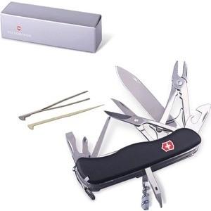 Нож перочинный Victorinox WorkChamp 0.9064.3 (с фиксатором лезвия, 21 функция, черный)