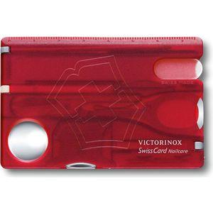 Швейцарская карта Victorinox SwissCard Nailcare (0.7240.T) (красный, 10 функций, полупрозрачный)