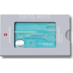Швейцарская карта Victorinox SwissCard Nailcare (0.7240.T21) 10 функций, полупрозрачный