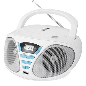 Магнитола BBK BX180U white/blue bbk bx110bt white