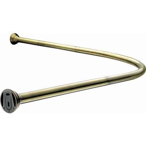 Карниз угловой для ванной с кольцами 920х920 мм Elghansa Monterno, бронза (CR-4-Bronze)