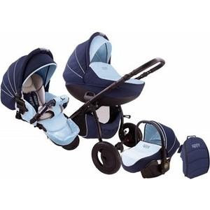 Коляска 3 в 1 Tutis Zippy Sport plus автокресло, короб,прогулка темно-синий,голубой