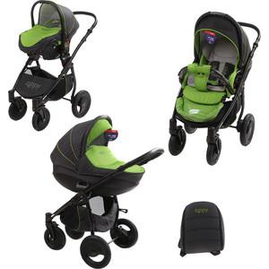 Коляска 3 в 1 Tutis Zippy Sport plus короб,прогулка,автокресло серый,зеленый