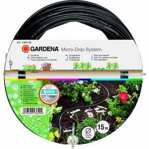 Шланг сочащийся Gardena 3/16 (4.6мм) 15м для наземной прокладки (01362-20.000.00) шланг сочащийся gardena 01362 20