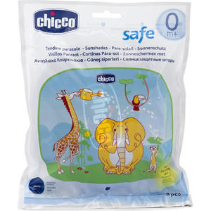 Защитные шторки Chicco для автомобиля Safe Животные 2 шт. 330822006