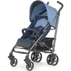 Коляска-трость Chicco Lite Way Top Stroller цвет Blue с бампером chicco lite way top отзывы