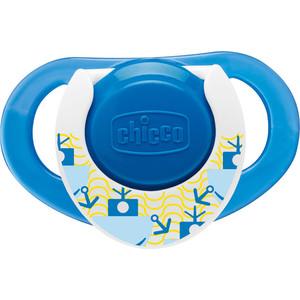 Пустышка Chicco силиконовая Physio 2013 12+ голубая 2 шт 310410056