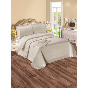 Набор для спальни Do and Co Elizabeth покрывало +КПБ евро + полотенца кремовый (9020)