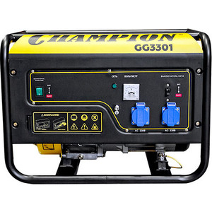 Генератор бензиновый Champion GG3301 радиатор охлаждения двигателя 2114