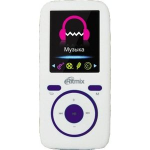 MP3 плеер Ritmix RF-4450 4Gb white/violet mp3 плеер mpio mg100 4gb кабель