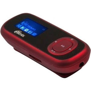 MP3 плеер Ritmix RF-3410 4Gb red mp3 плеер ritmix rf 4450 4gb black blue