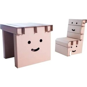 ГофроАрт Комплект Стол и стул ''Смайл''