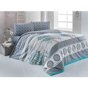 Комплект постельного белья Brielle 1,5 сп 204 V2 turquoise (1108-84903)/ 869604801108984903 покрывало brielle 2 сп elmas бирзовый 1123 84906