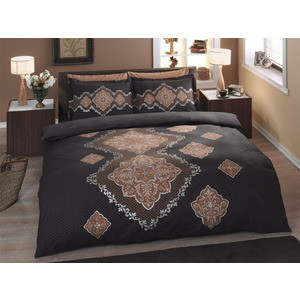 Комплект постельного белья TAC 1,5 сп Diana коричневый (4241-60070123)
