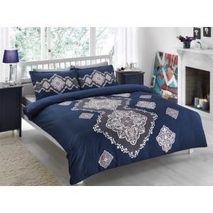 Комплект постельного белья TAC 1,5 сп Diana синий (4241-60070121)