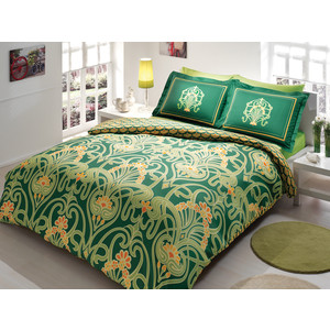 Комплект постельного белья TAC 1,5 сп Torium зеленый (7029B-8800002863)