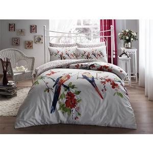 Комплект постельного белья TAC 1,5 сп Parrot красный (3080-07040)