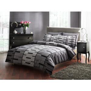 Комплект постельного белья TAC 1,5 сп Bronx серый (3080-07101)