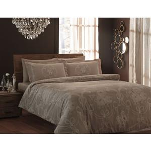 Комплект постельного белья TAC 1,5 сп Ribbon коричневый (3080-07107)