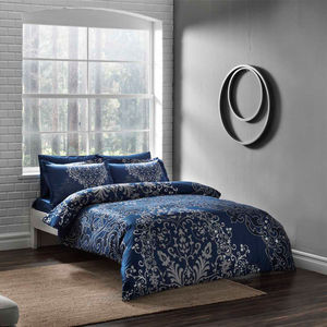 Комплект постельного белья TAC 1,5 сп Fabia синий (3080-07120)